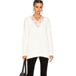 Alexander Wang v neck cable pullover